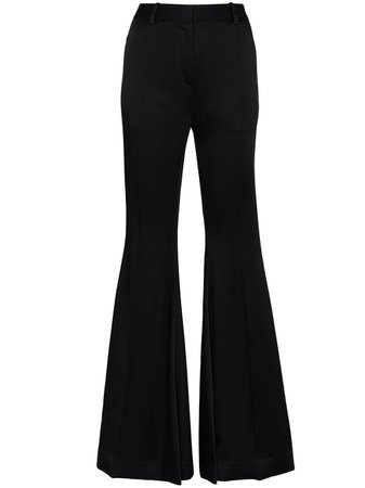 Khaite Stockard flared trousers black 3048401 - Farfetch