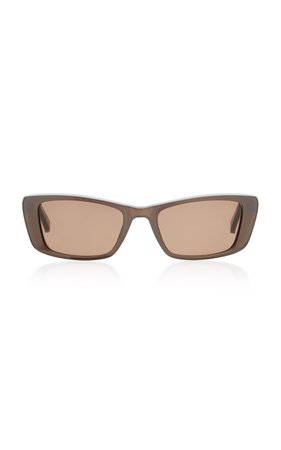 Kate Young Ines Square-Frame Acetate Sunglasses