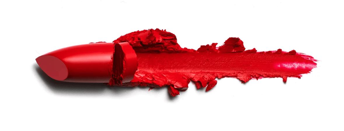 Red Lipstick swatch smear