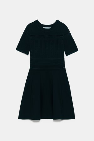 OPENWORK KNIT DRESS - BEST SELLERS-WOMAN | ZARA United States black