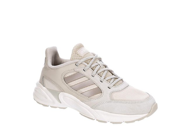 White Adidas Womens 90s Valasion Sneaker   Athletic   Off Broadway Shoes