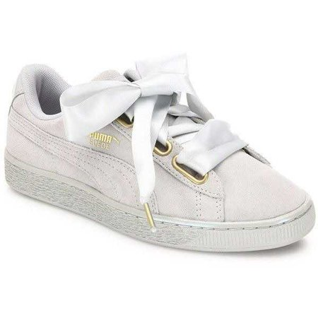 PUMA Basket Heart Suedeand Satin Sneakers ($80)
