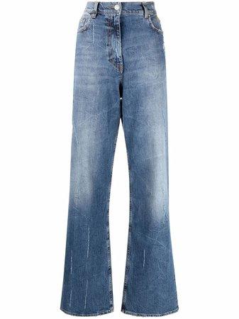 MSGM faded straight-leg jeans - FARFETCH