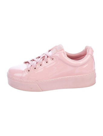 Kenzo Patent Leather Round-Toe Sneakers - Shoes - KEN37401   The RealReal