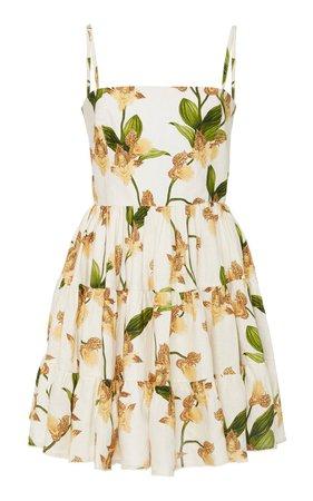 Lima Jardin Floral-Print Linen Mini Dress by Agua by Agua Bendita | Moda Operandi