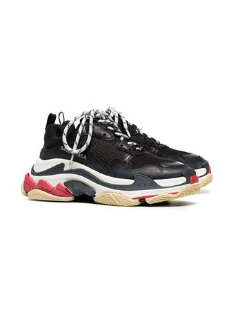 triple s black and red