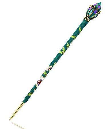 Green Lotus Flower Hair Pin