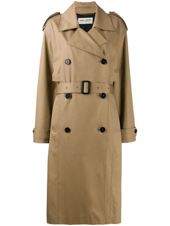 Saint Laurent Belted Trench Coat - Farfetch