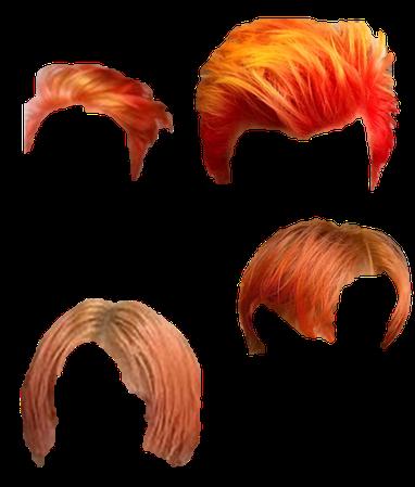 Short Orange ombre hair 1