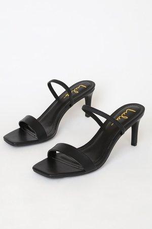 Sexy Black Heels - High Heel Sandals - Barely-There Heels - Lulus