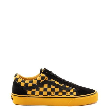 yellow and black vans