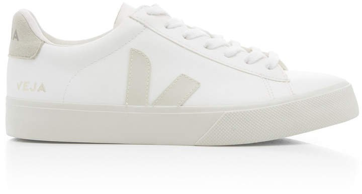 Campo White Vegan Leather Sneakers