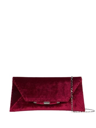 Shop red Tyler Ellis Aimee flat large clutch with Express Delivery - Farfetch