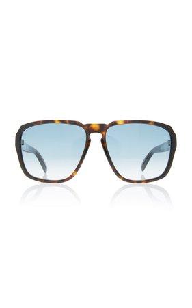 Tortoiseshell Acetate Square-Frame Sunglasses by Givenchy | Moda Operandi