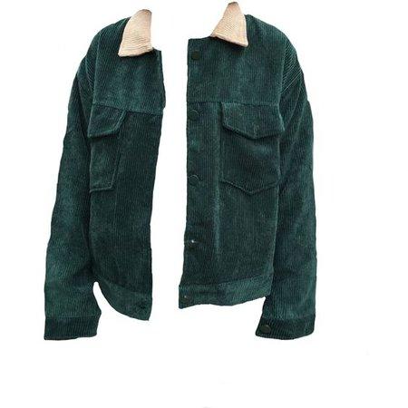 green velvety jacket