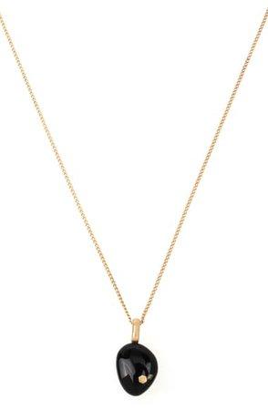 AllSaints Onyx Pendant Necklace | Nordstrom