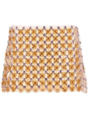 Miu Miu Cady bead-embellished Miniskirt - Farfetch