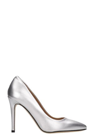 Alchimia Silver Calf Leather Pumps