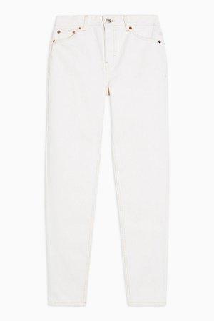 Ecru Mom Jeans | Topshop