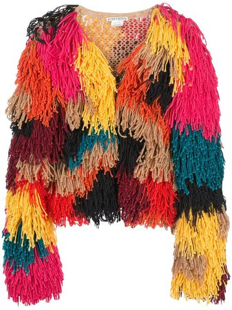 Alice+Olivia Fawn fringed jacket £874 - Shop Online. Same Day Delivery in London