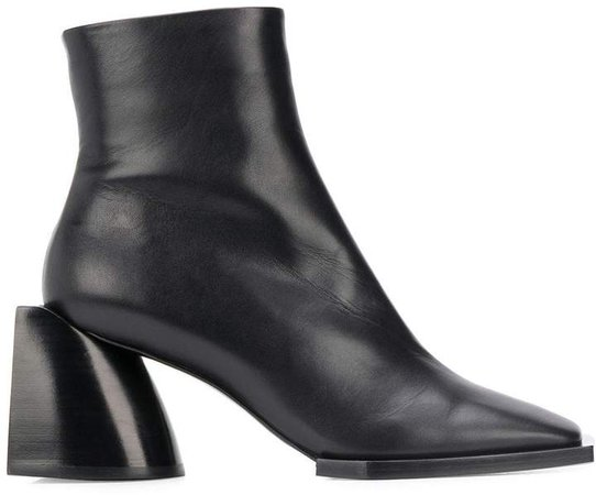 square toe ankle boots