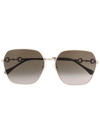 Gucci Eyewear, oversize horsebit-detail sunglasses