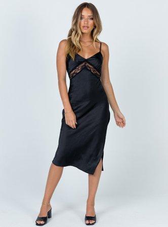Amelia Midi Dress Black