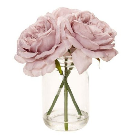 Living & Co Artificial Peony in Vase Pink 34 x 8cm Pink   The Warehouse
