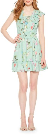 Celeste Floral Smocked Ruffle Minidress