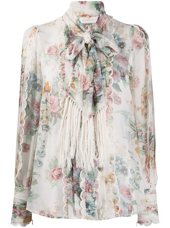 Zimmermann Silk Floral Print Blouse - Farfetch