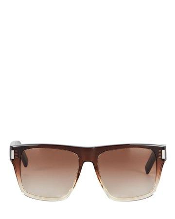 Saint Laurent SL 424 Square Sunglasses   INTERMIX®