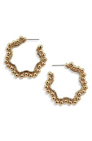 BaubleBar Gianna Beaded Hoop Earrings | Nordstrom