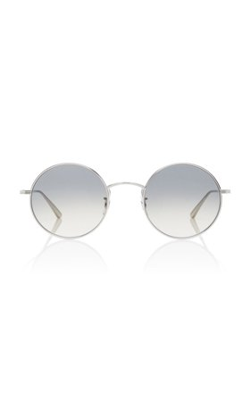 After Midnight Round Metal Sunglasses by Oliver Peoples THE ROW | Moda Operandi