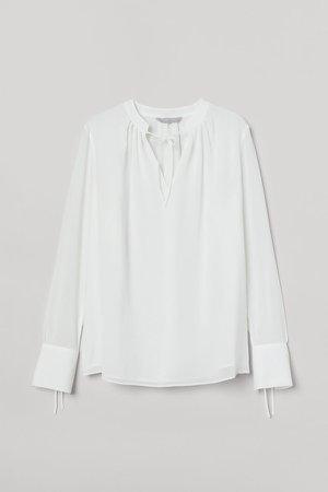 Tie-detail Blouse - White