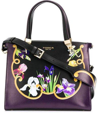 Iris floral tote