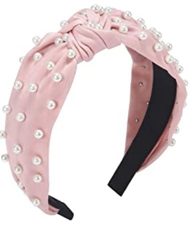 pink pearl headband