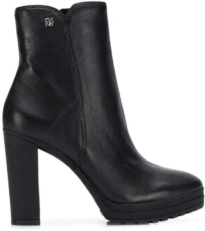 ankle leather booties