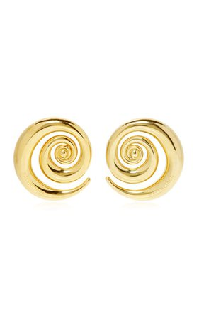 Snail Gold-Plated Earrings By Balenciaga | Moda Operandi