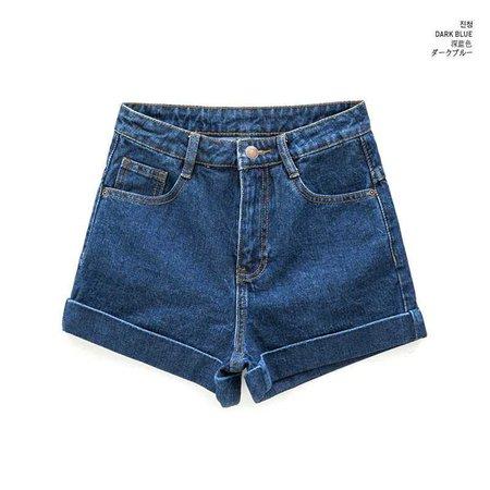 Buy chuu Cuffed Denim Shorts | YesStyle