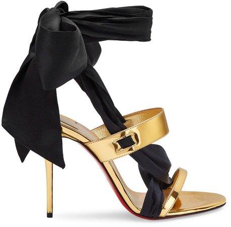 Foulard Cheville Satin Ankle-Tie Sandals