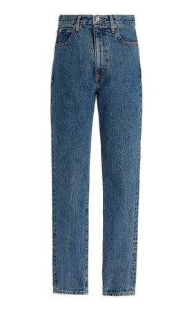 Beatnik Rigid High-Rise Slim-Leg Jeans By Slvrlake | Moda Operandi