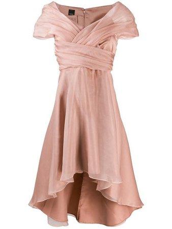 Pinko Draped Neckline Dress - Farfetch