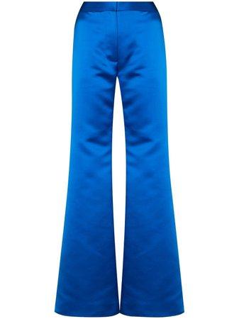 Halpern Satin Flared Trousers - Farfetch