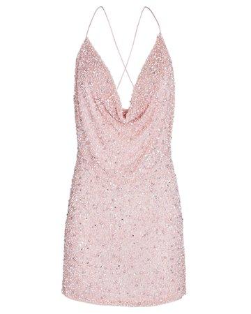 Retrofête Mich Sequin Cowl Neck Mini Dress | INTERMIX®