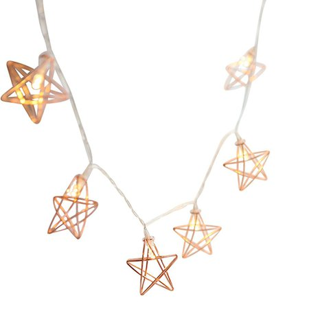 Rose Gold Star Fairy Lights 1