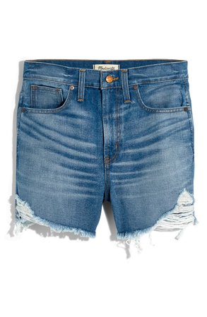Madewell The Perfect Vintage Denim Shorts blue