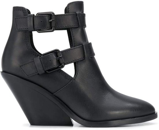 buckle-embellished ankle boots