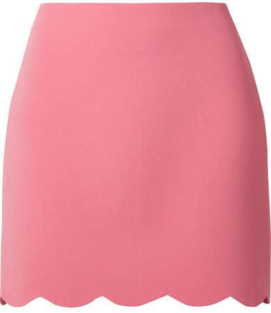 Scalloped Cady Mini Skirt - Pink