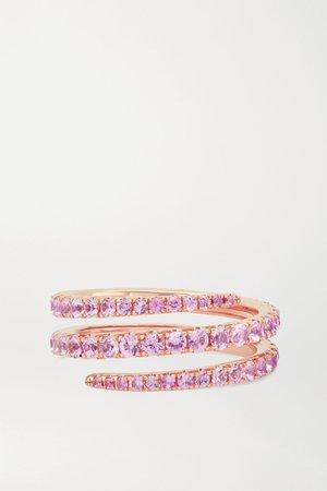 Rose gold Coil 18-karat rose gold sapphire ring | Anita Ko | NET-A-PORTER