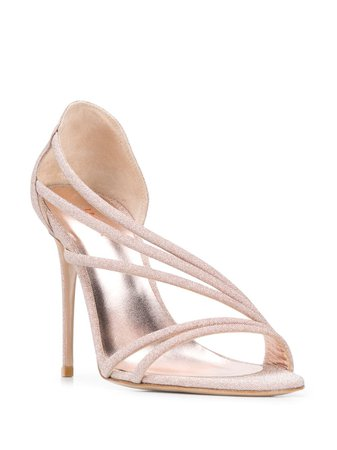 Le Silla Glittered Stiletto Sandals